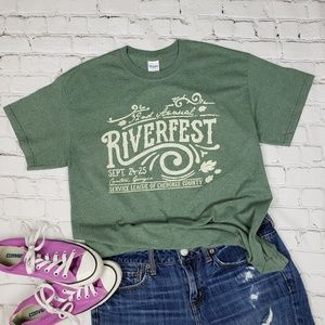 Tops - 32nd Cherokee County GA Riverfest Graphic T  M